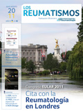 Portada Revista Los Reumatismos Julio-Agosto 2011